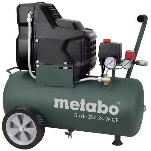 METABO Kompresors Basic 250-24 W OF, bez eļļas,