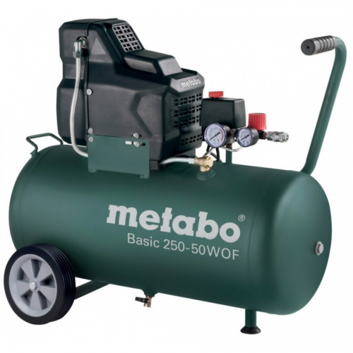 METABO Kompresors Basic 250-50 W OF, bez eļļas,